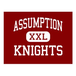 Assumption - Knights - High - Davenport Iowa Postcard