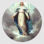 Assumption of Mary Classic Round Sticker