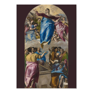 Assumption of the Virgin by El Greco 5x7 Paper Invitation Card
