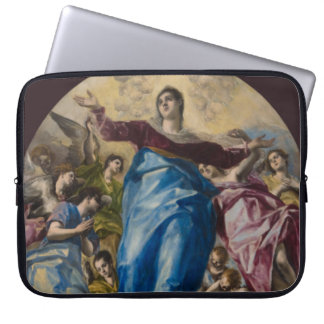 Assumption of the Virgin by El Greco Laptop Sleeves