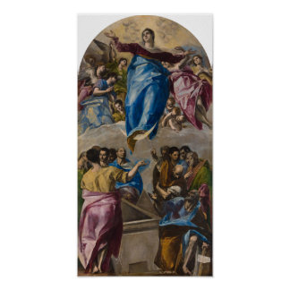 Assumption of the Virgin by El Greco Poster