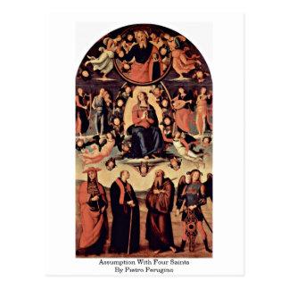 Assumption With Four Saints By Pietro Perugino Postcard
