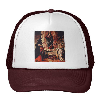 Assumption With St. Anthony Abate And St. Louis Of Trucker Hat