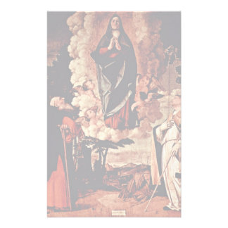 Assumption With St. Anthony Abate And St. Louis Of Stationery