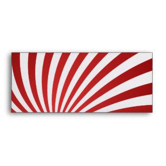 Assymetrical maroon spiral envelope