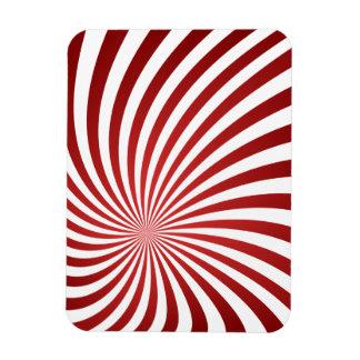 Assymetrical maroon spiral magnet