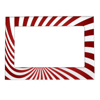 Assymetrical maroon spiral photo frame magnets