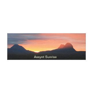 Assynt Sunrise Canvas Print