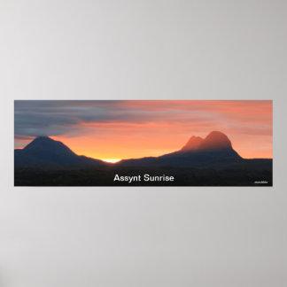 Assynt Sunrise Poster