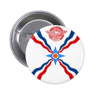 Assyria, República Democrática del Congo Pin Redondo 5 Cm