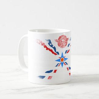 Assyrian American Flag   Assyria and USA Design Coffee Mug