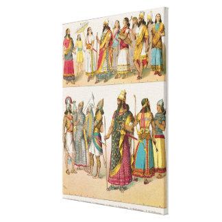 Assyrian Dress, from 'Trachten der Voelker', 1864 Gallery Wrap Canvas