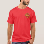 Assyrian Empire Red & Gold Round Seal Shirt