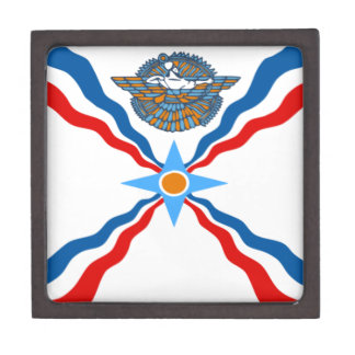 assyrian-Flag Jewelry Box