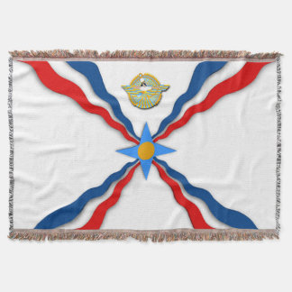 Assyrian Flag Throw Blanket