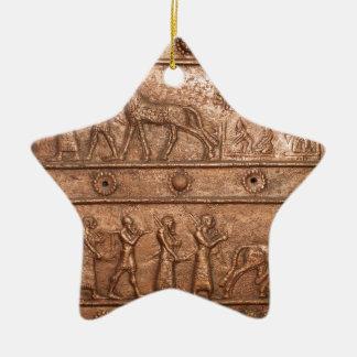 Assyrian Gate Ceramic Ornament