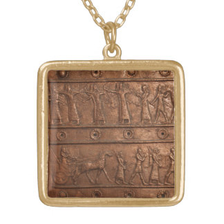 Assyrian Gate Gold Plated Necklace