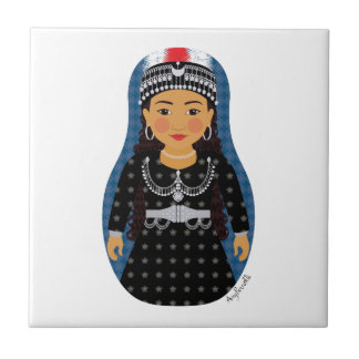 Assyrian Girl Matryoshka Ceramic Tile