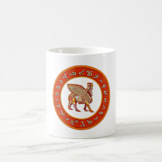Assyrian Golden Alphabet and Lamassu mug