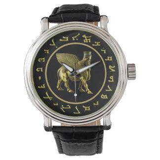 Assyrian Golden Alphabet and Lamassu watch