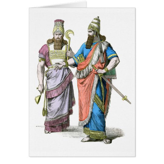 Assyrian High Priest and King Card