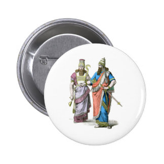 Assyrian High Priest and King Pinback Button