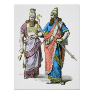 Assyrian High Priest and King Poster