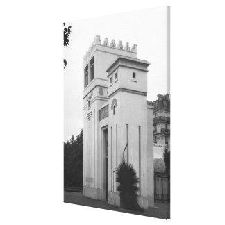 Assyrian House, Universal Exhibition, Paris Canvas Print