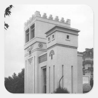 Assyrian House, Universal Exhibition, Paris Square Sticker