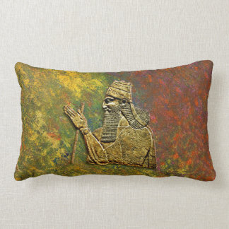 "Assyrian King Throw  Lumbar Pillow 13"" x 21"