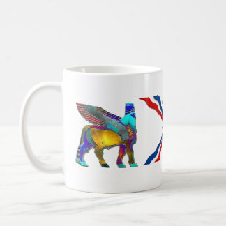 Assyrian Lamassu And the Flag Coffee Mug