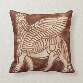Assyrian Lamassu Throw Pillow
