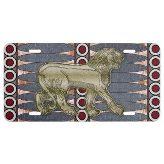 assyrian lion license plate