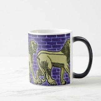 assyrian lion trio mug