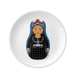 "Assyrian Matryoshka 8.5"" Porcelain Plate"