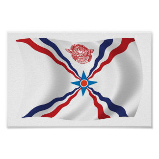 Assyrian Nation Flag Poster Print