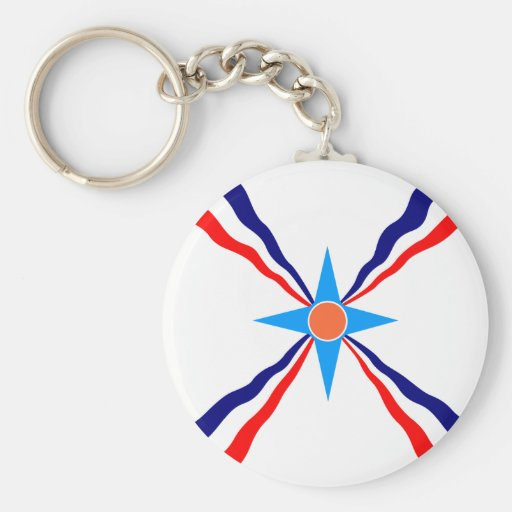 Assyrian People, Democratic Republic of the Congo Basic Round Button Keychain