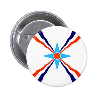 assyrian people ethnic flag pinback button