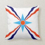 assyrian people ethnic flag throw pillows