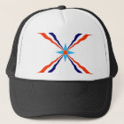 assyrian people ethnic flag trucker hat