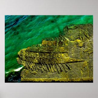 Assyrian Warship Poster