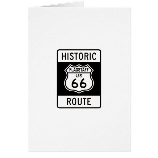Asta de bandera, ruta 66 de Arizona Felicitacion