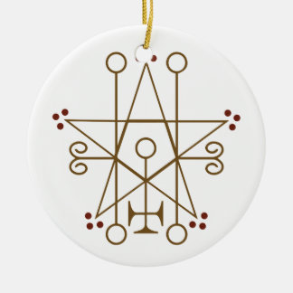 Astaroth Goetic Seal Ceramic Ornament