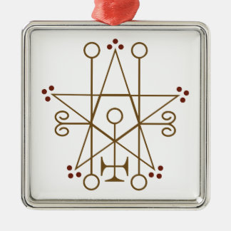 Astaroth Goetic Seal Metal Ornament