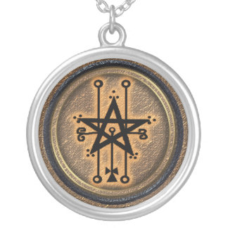 astaroth silver plated necklace