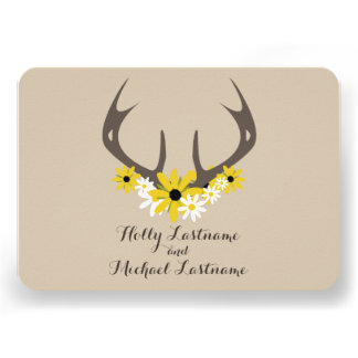 Astas de los ciervos + Wildflowers que casan R S V