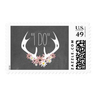 Astas florales + Reserva de la pizarra el franqueo Timbre Postal