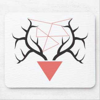 Astas geométricas minimalistas de los ciervos alfombrilla de ratón