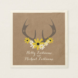 Astas + La cartulina de los Wildflowers inspiró el Servilleta De Papel