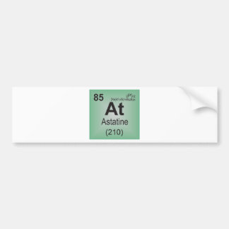 Astatine Individual Element of the Periodic Table Bumper Stickers